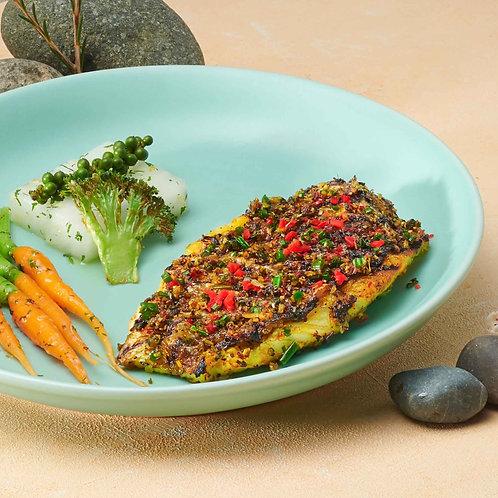 Cá chẽm nướng sả tiêu / Grilled seabass lemongrass and pepper