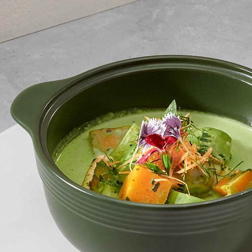 Cà ri xanh rau củ xôi nếp cẩm/Vegetables green curry