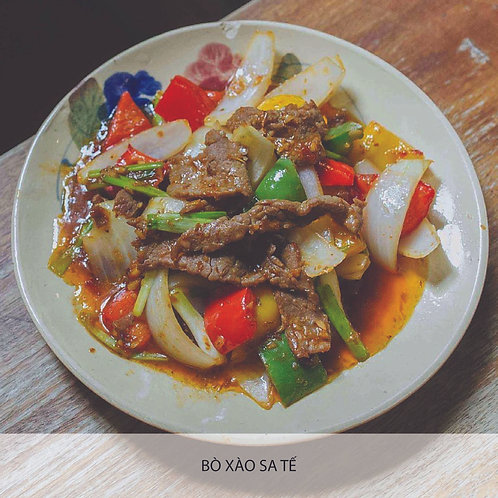 Sautéed beef with spicy sauce