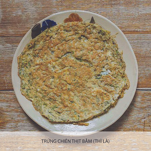 Omelette with minced pork ( or with) dill