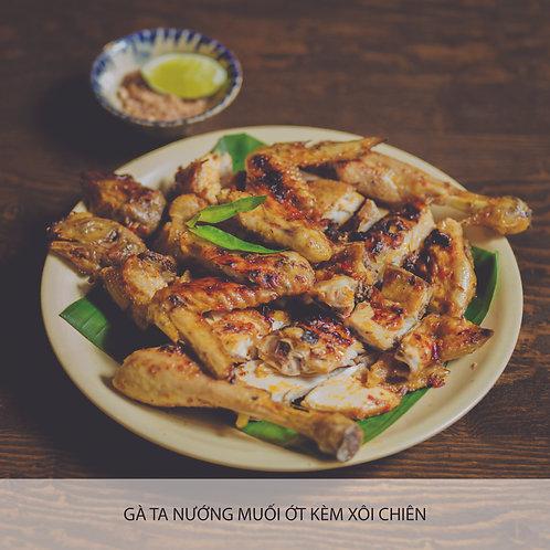 Grilled chicken with salt chilli