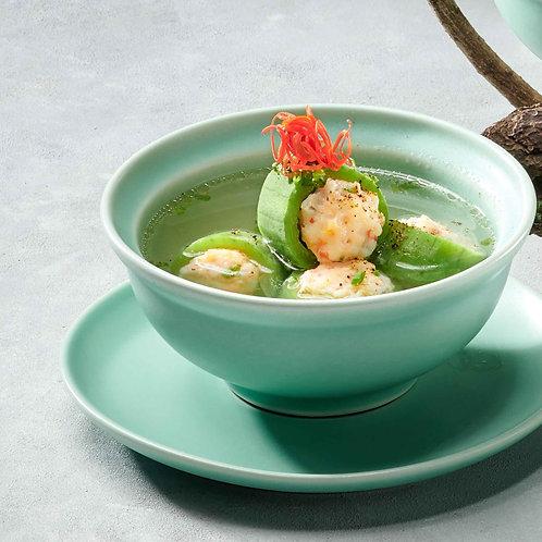 Canh mướp Hương nhồi tôm/Fiber melon stuffed with prawns soup