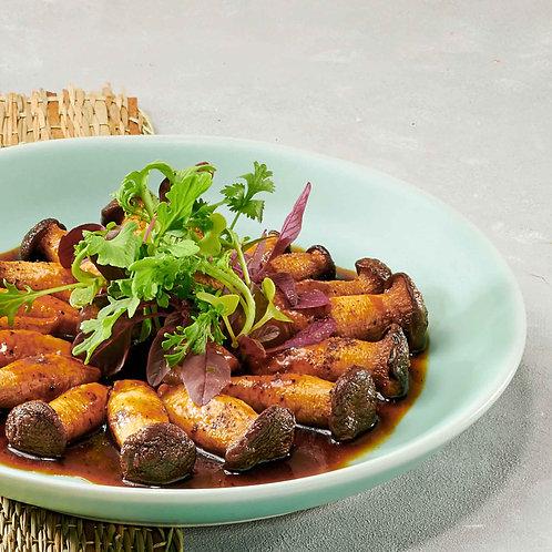 Nấm đùi gà rim mặn/Stewed king oyster mushrooms