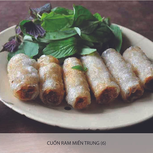Fried Central Vietnam style spring roll with pork and prawn