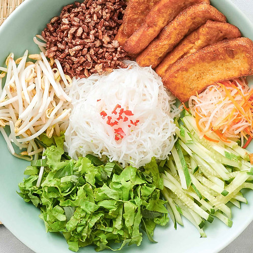 Bún đậu hũ nước tương / Tofu with rice noodles
