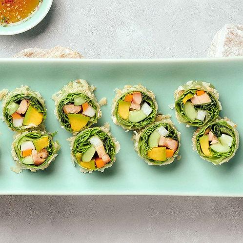 Gỏi cuốn gà trái bơ/Fresh spring rolls with chicken and avocado