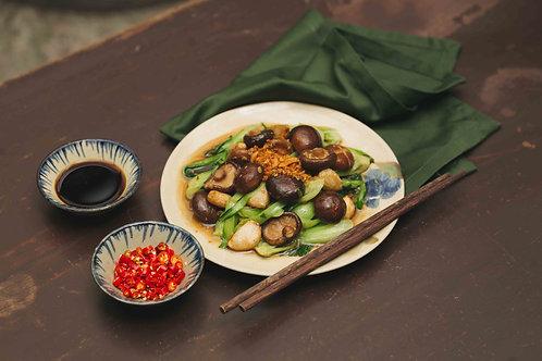Cải thìa xào nấm đông cô / Stir-fried Bokchoy with shiitake mushroom