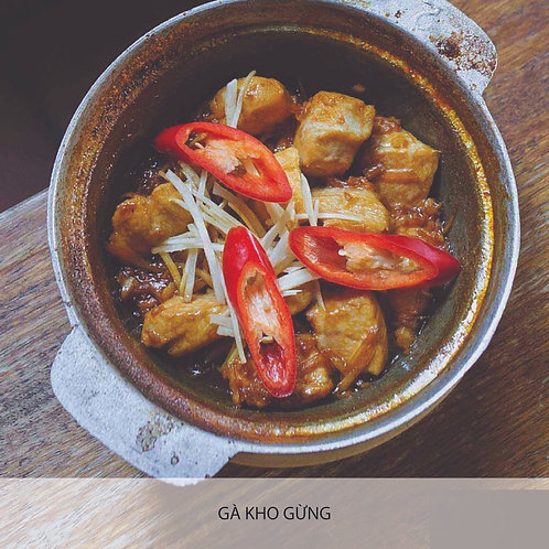 Braised chicken with ginger