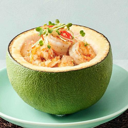 Gỏi bưởi tôm nướng/Pomelo salad with grilled prawns