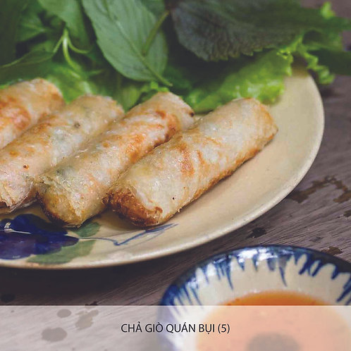 Quán Bụi spring roll with crab meat and prawn