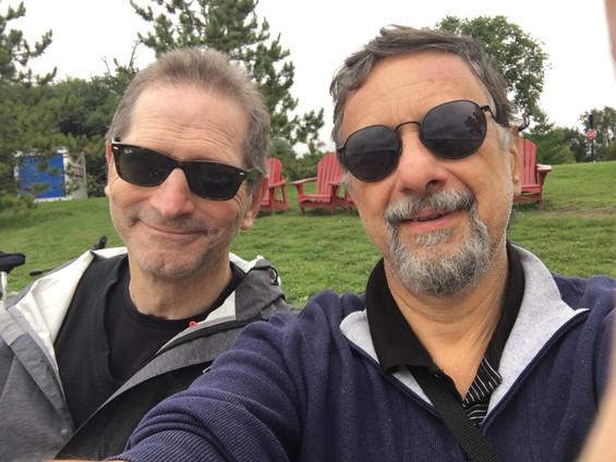 With Fabio in Ottawa, bike ride Sep 2018