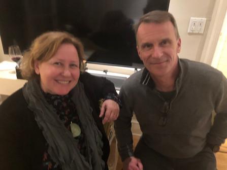 Best next door neighbors ever...Lisan Martin and (next) Tim Lordan
