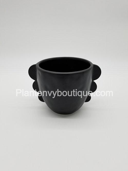 Ceramic Planter w/ Ripple Handles