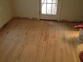 Water damaged hardwood floor