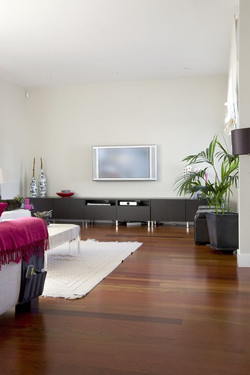 Installation of exotic wood floors