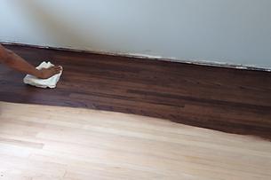 Wood Floor Custom Staining