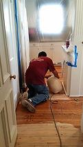 Polishing hardwood floor