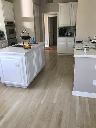 Sanding and Custom Staining hardwood floors