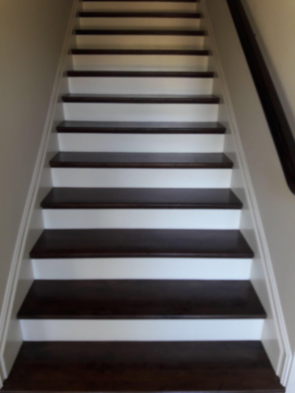Wood Floor Stair Step Refinishing