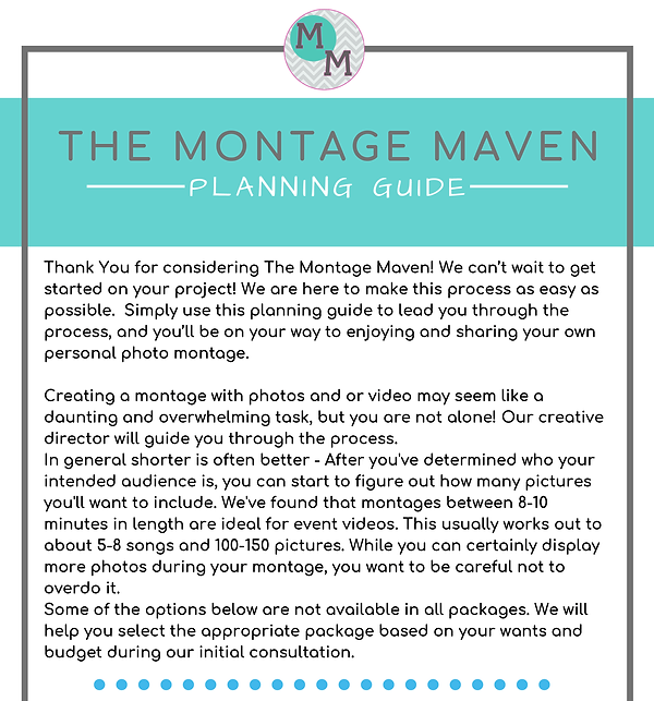 EVENT PHOTO MONTAGE - PLANNING GUIDE 202