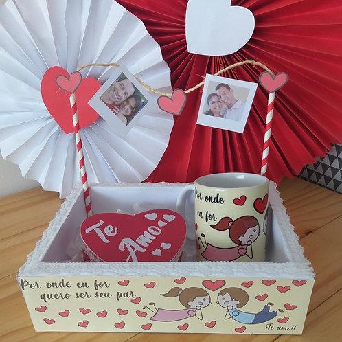 Caixa Bandeja + Caneca + Caixa Coração
