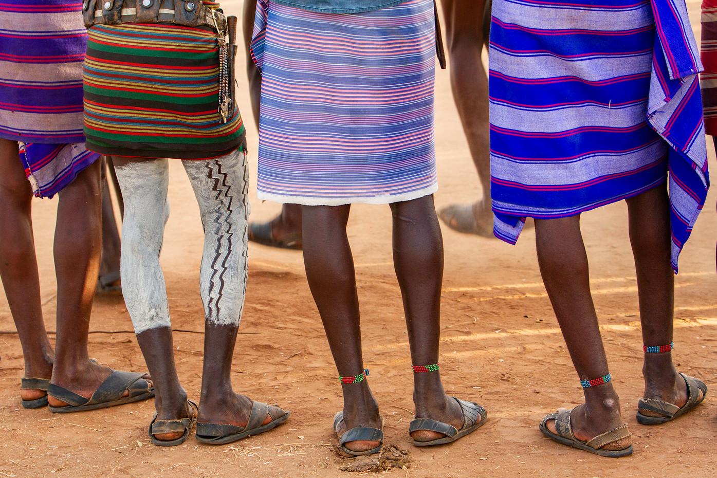Hamer tribesmen near Dimeka, Ethiopia