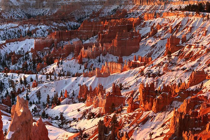 Bryce Canyon in winter, USA