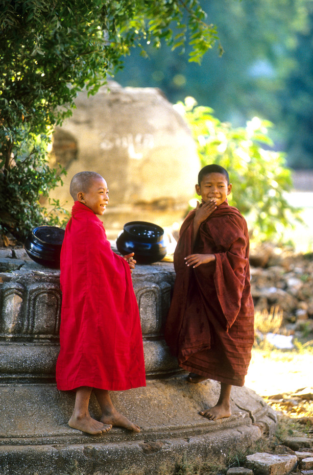 Novice monks in Mingun, Myanmar