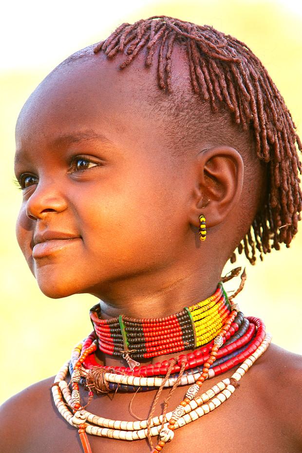 Hamer girl near Dimeka, Ethiopia