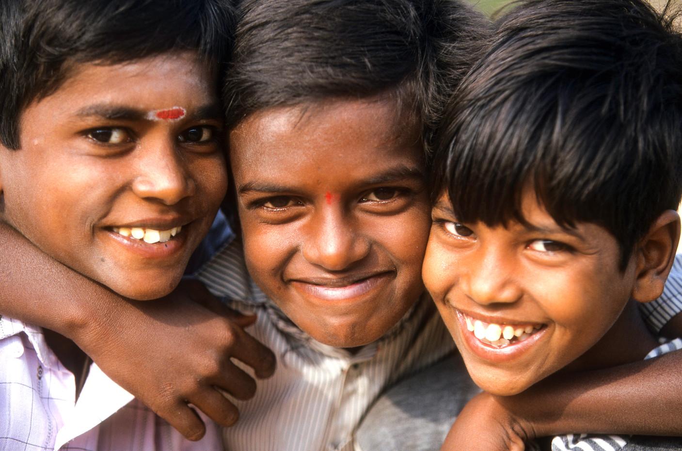 School boys near Bhopal, In