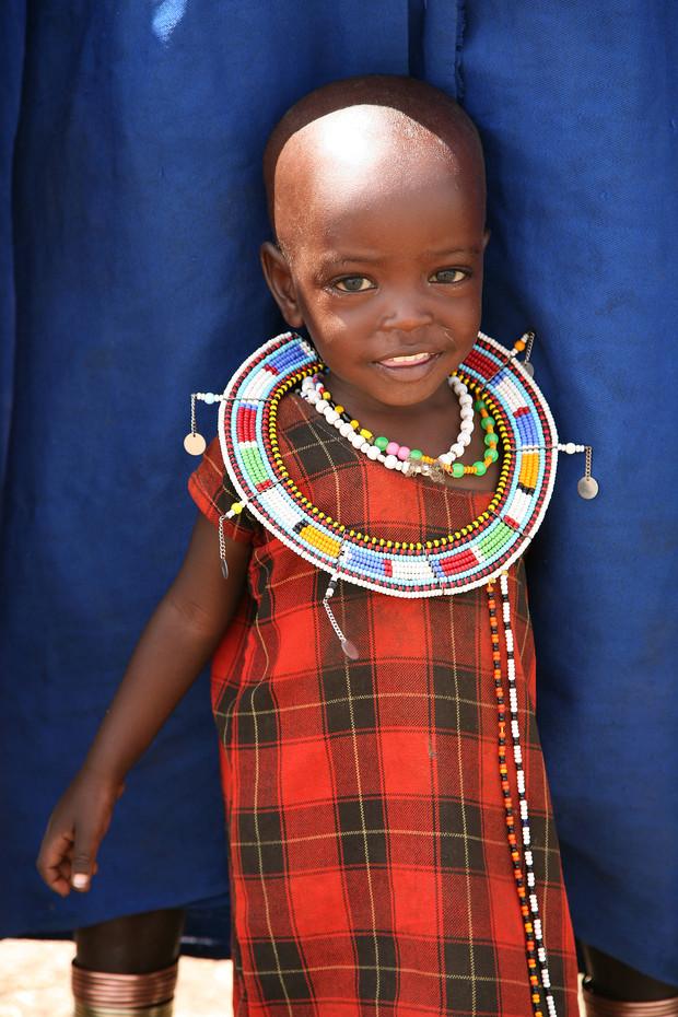 Masai girl near Lake Natron, Tanzania