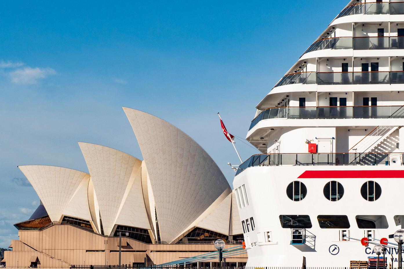 Sydney Opera House & cruise ship, Australia