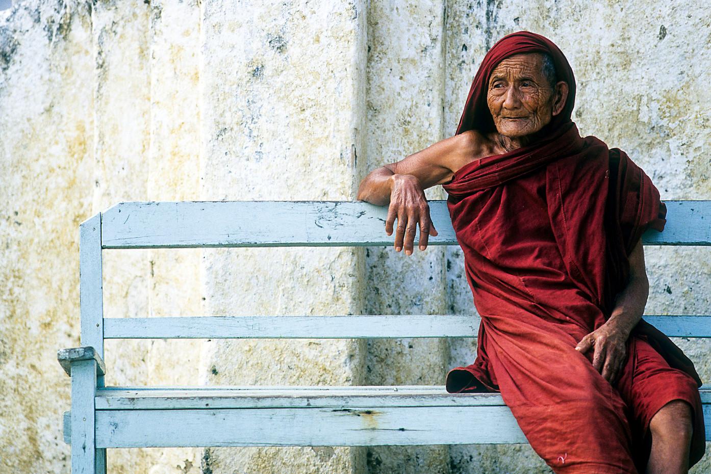 Elderly monk near Inle Lake, Myanmar