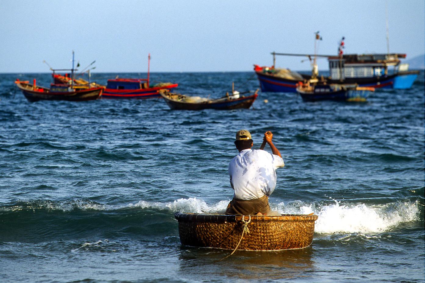 Fisherman in Nha Trang, Vietnam