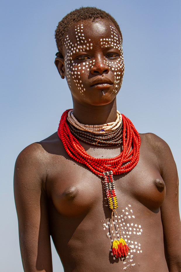 Karo women on the Omo River, Ethiopia