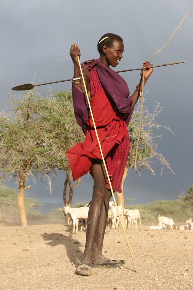 Masai Moran near Lake Natron, Tanzania