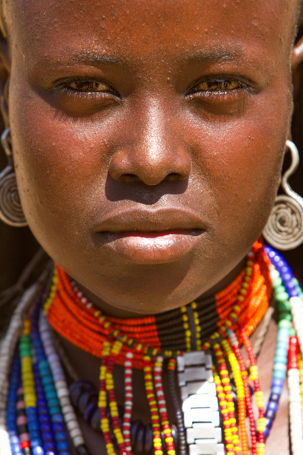 Arbore woman in the Omo Valley, Ethiopia