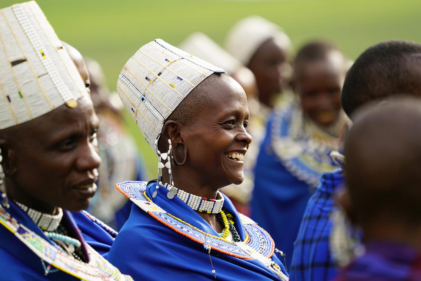 Masai women in the NgorongoroCrater highlands, Tanzania