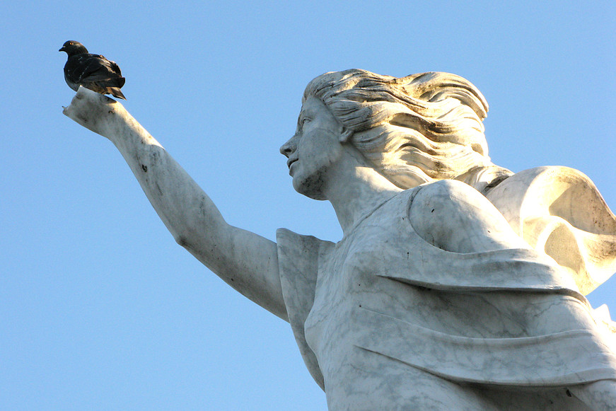 Monument to the Immigrant in New Orleans, USA