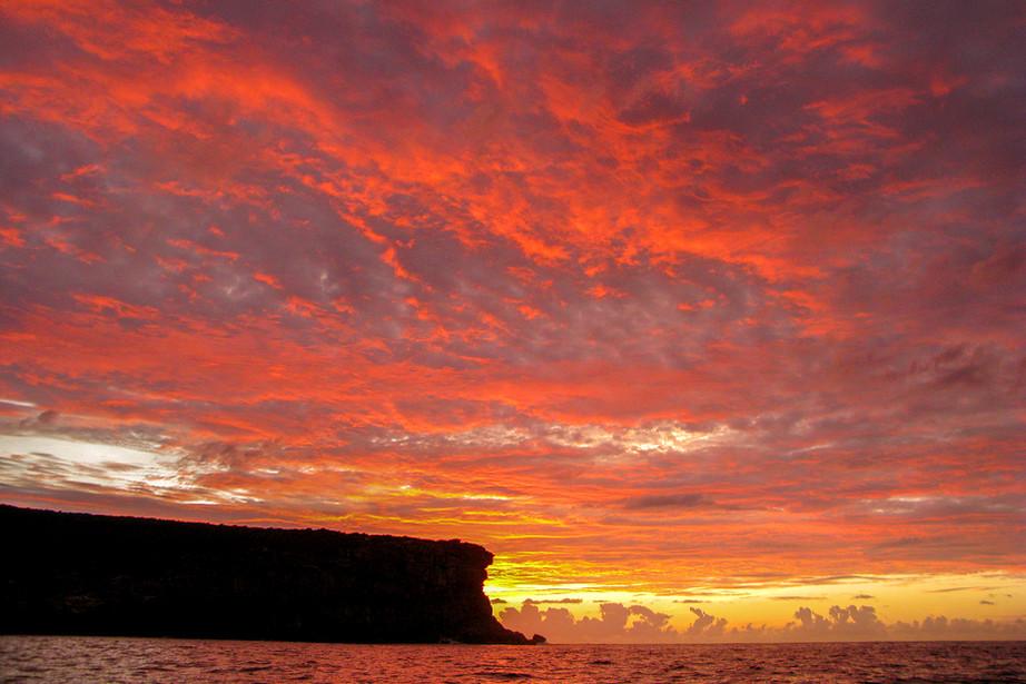 Sunrise over North Head in Sydney Harbour, Australia