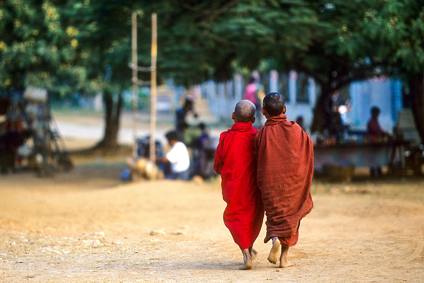 Novice monks in Mingun, Myanmar