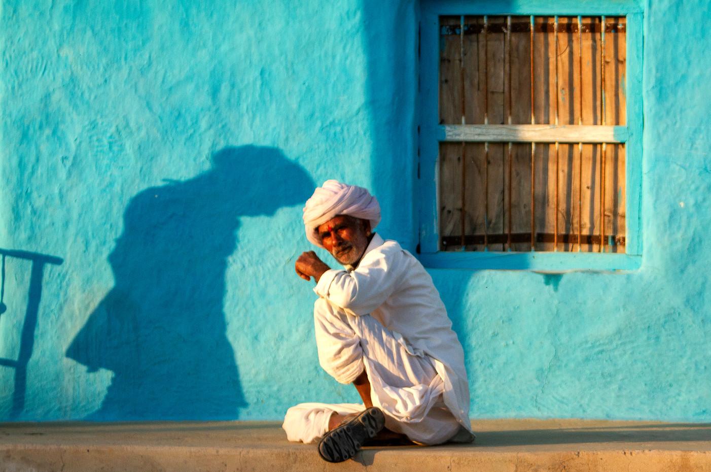 Elderly man in Rohet, India