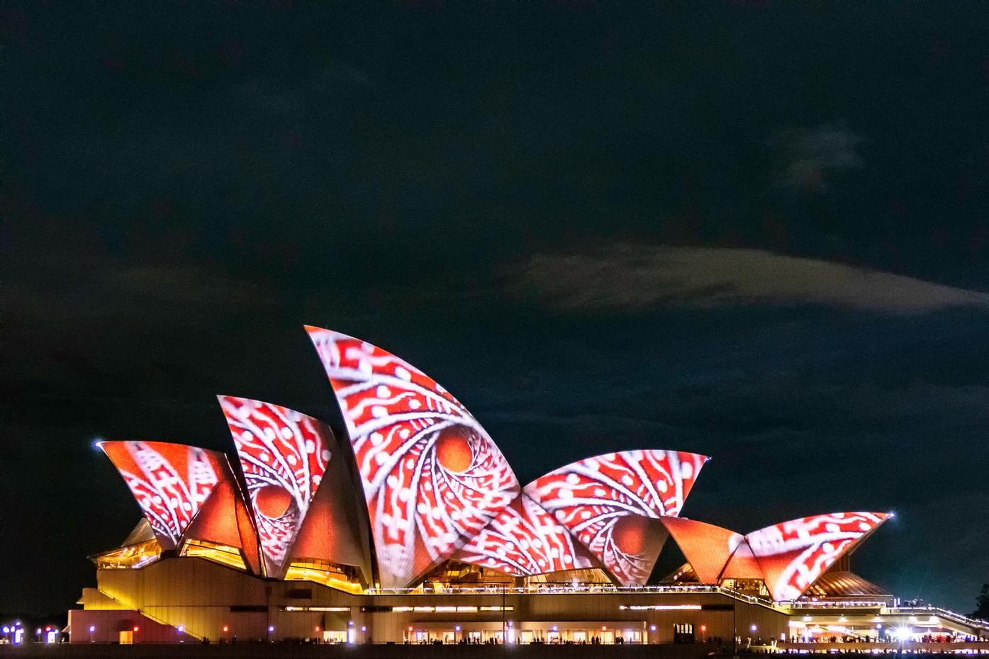 Sydney Opera House during Vivid festival, Australia