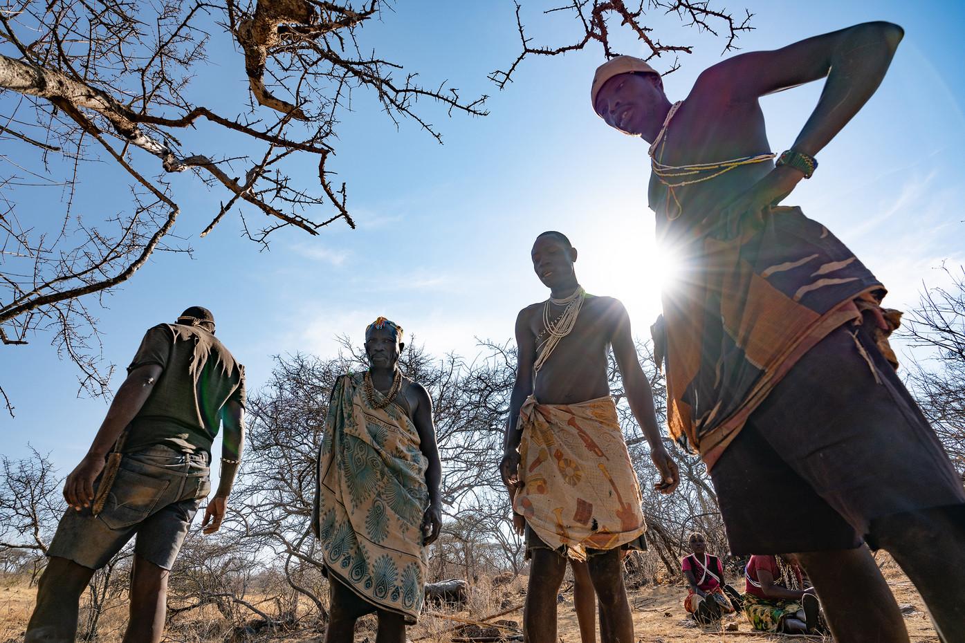 Hadza bushmen in Mwiba Reserve, Tanzania