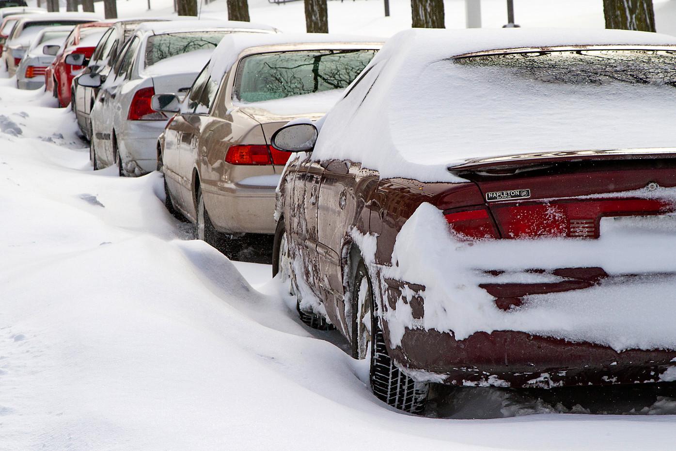 Blizzard in Chicago, USA