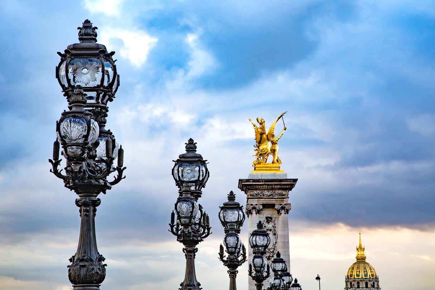 Alexander the III Bridge in Paris, France