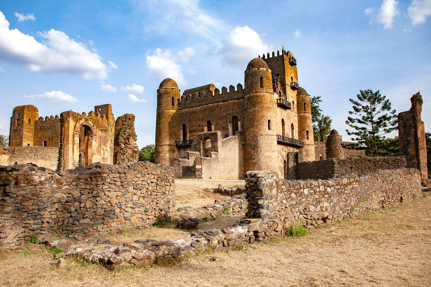Medievil castles in Gondar, Ethiopia