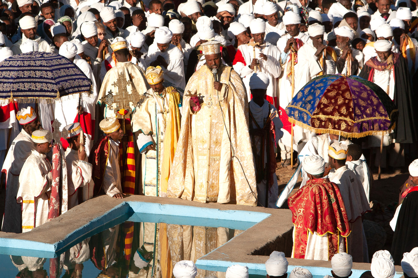Timkat celebrations in Lalibela, Ethiopia