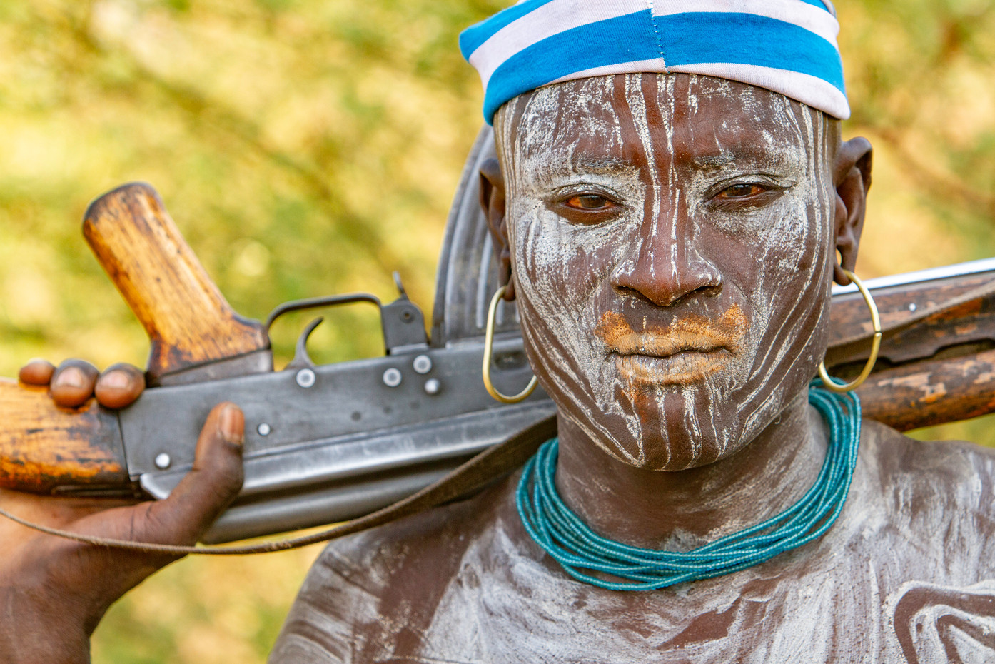 Mursi tribesman in the Omo Valley, Ethiopia