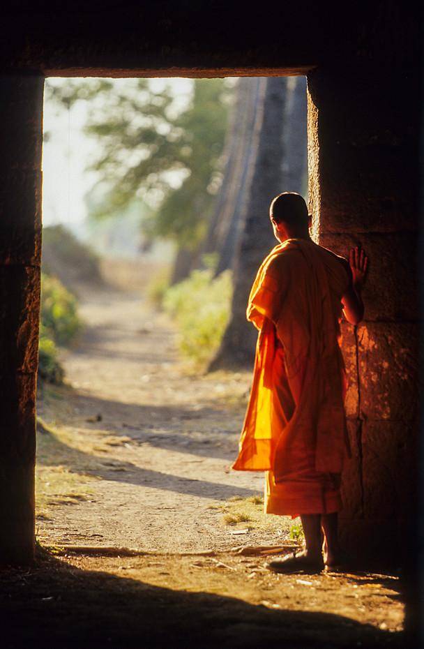 Novice monk - somewhere in Cambodia